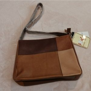 NWT genuine leather shoulder purse